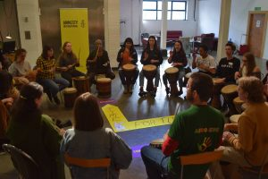 Drumming workshop Amnesty International