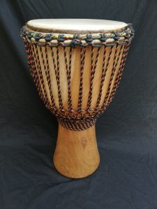 Djembe from Ivory Coast made of Iroko wood