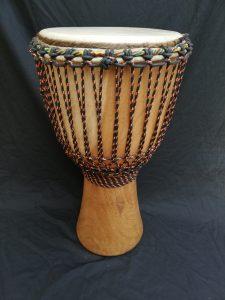 Djembe from Ivory Coast made of Iroko wood