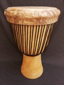 Djembe drum from Guinea Melina wood